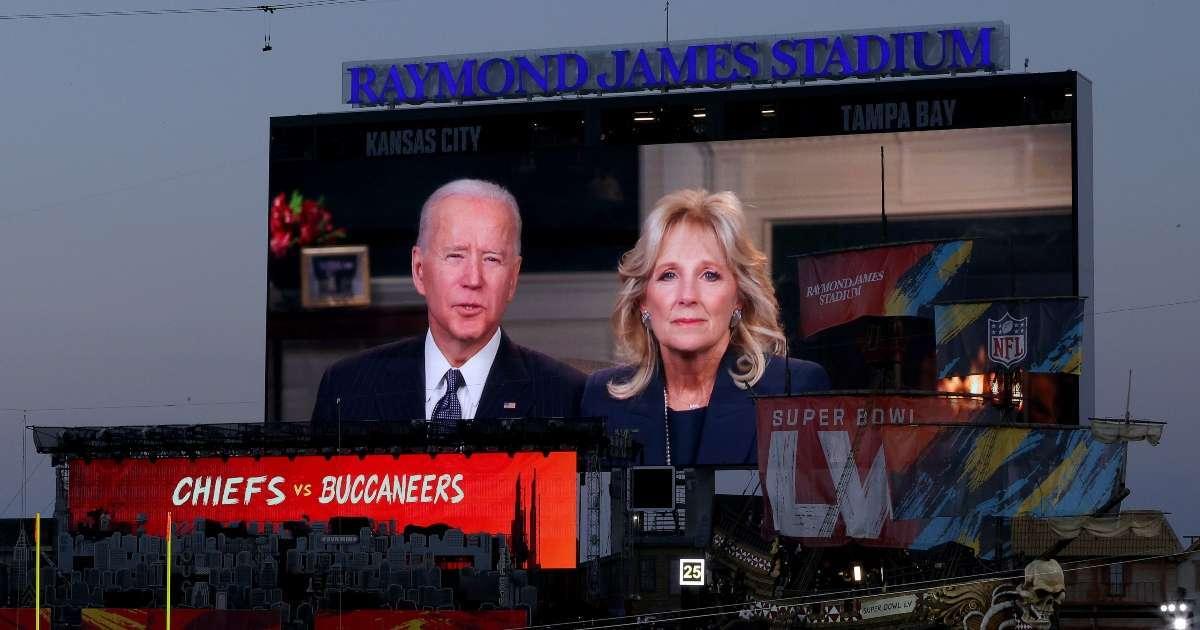 Super Bowl Joe Biden Moment of silence boo