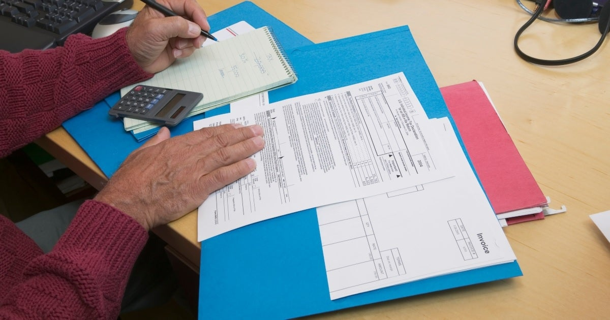 tax return form getty images