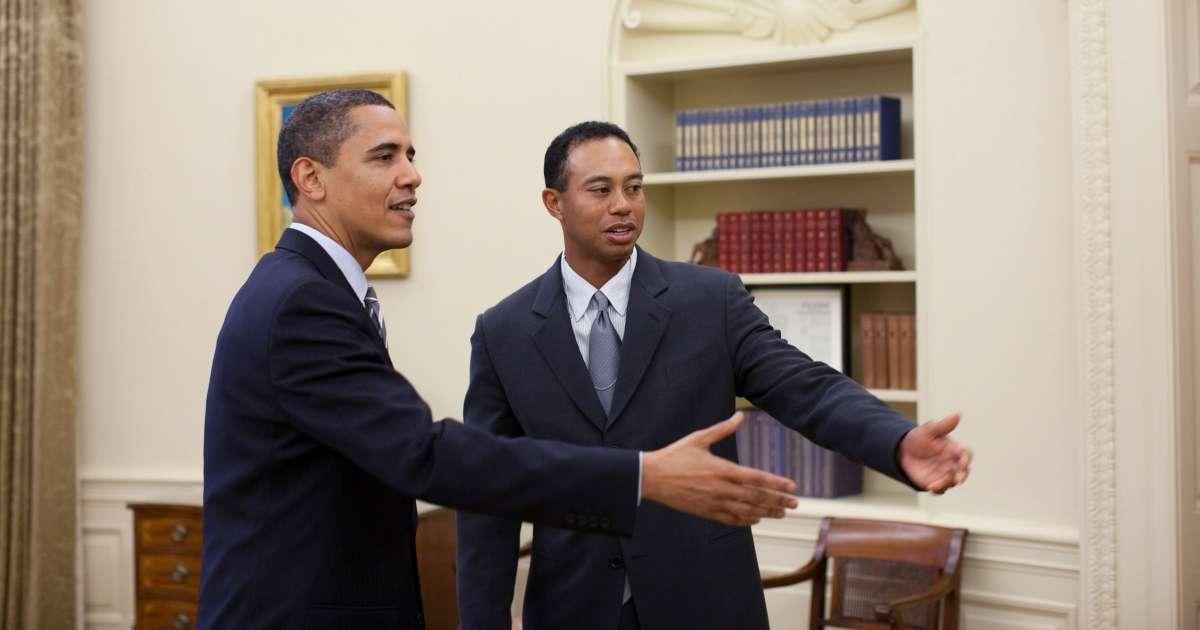 Tiger Woods Accident Barack Obama says never count out car crash