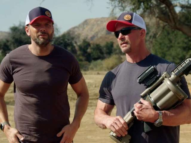 Steve Austin and Joel McHale Swap College Football Stories in 'Straight Up Steve Austin' Exclusive Clip