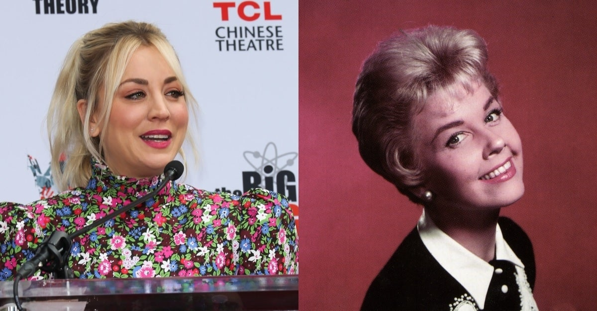 kaley cuoco doris day getty images