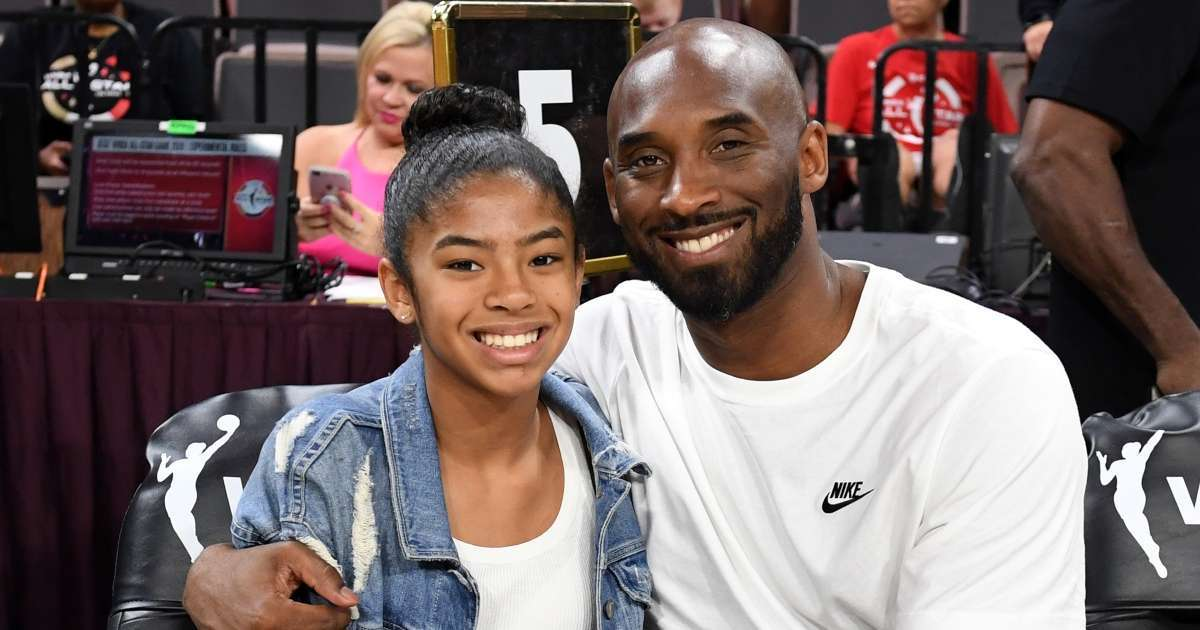 Kobe Bryant Gianna Murals go up downtown LA