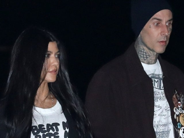 Kourtney Kardashian Makes Sultry Statement With NSFW T-Shirt on Date With Travis Barker