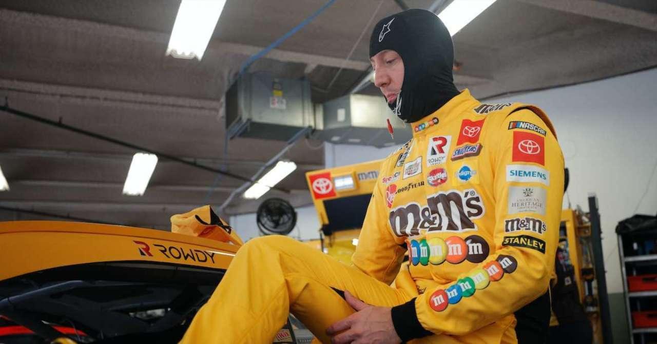 NASCAR: Kyle Busch Running Special 40th Anniversary Ethel M Chocolates Scheme at Pennzoil 400.jpg