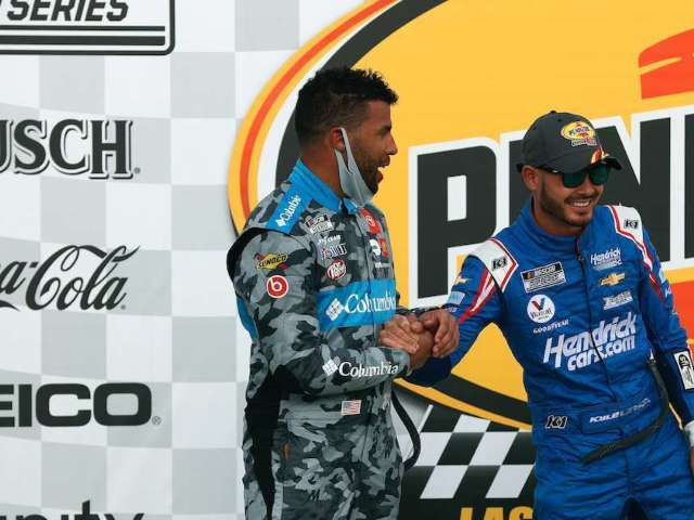 NASCAR: Bubba Wallace Congratulates Kyle Larson After First Win Since Suspension