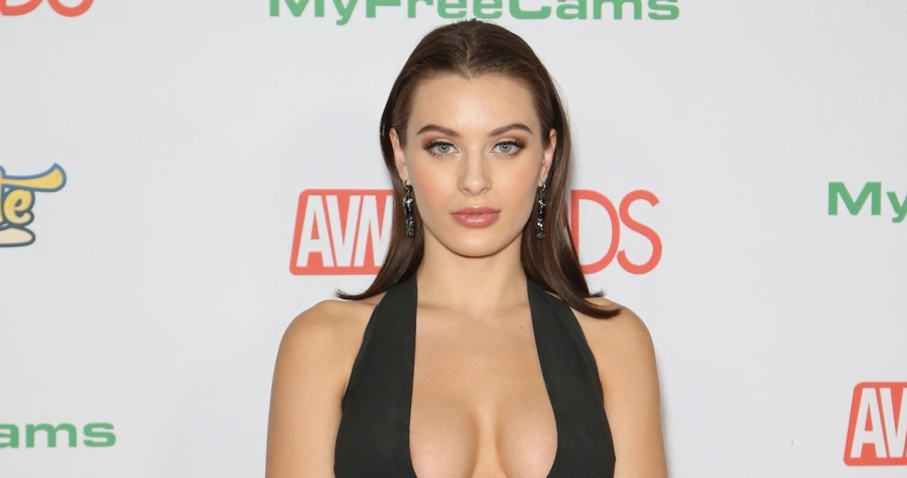Lana Rhoades Rocks Short Skirt in 'Smart Girl S—' Shopping Photo.jpg
