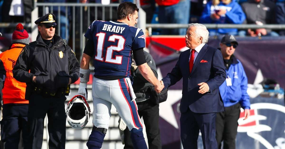 Patriots Owner Robert Kraft reacts Tom Brady Super Bowl win