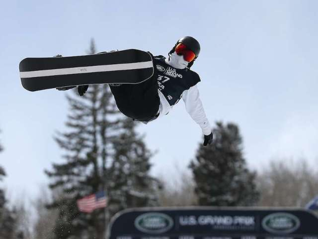 Shaun White Hits the Slopes for First Olympic Qualifying Event
