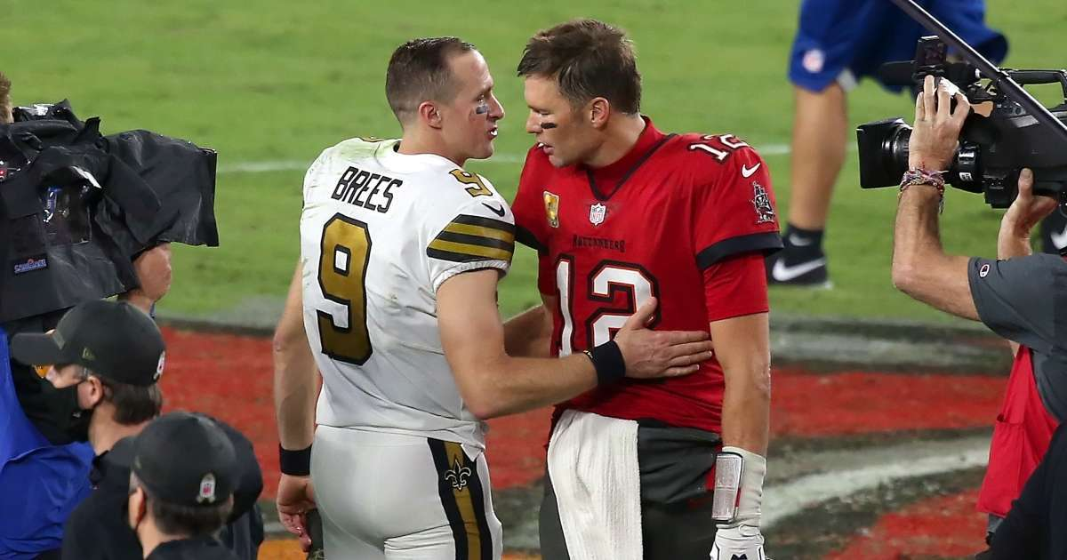 Tom Brady sends message Drew Brees retiring NFL