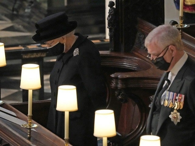 Queen Elizabeth Mourns Husband Prince Philip at His Funeral