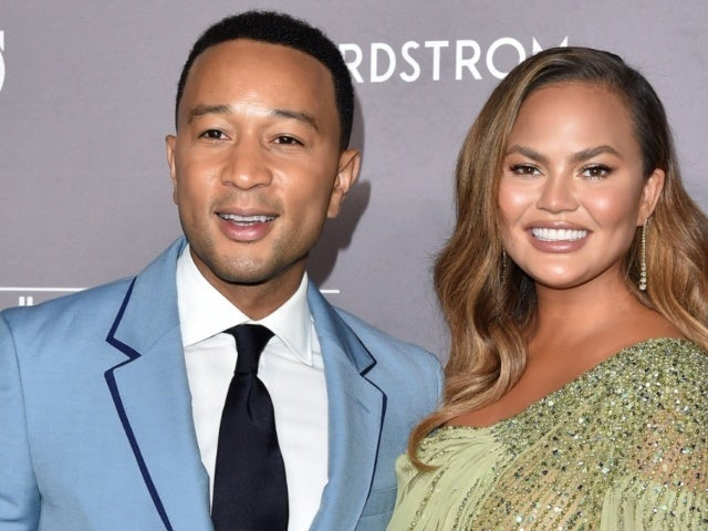 Chrissy Teigen Stuns in Lavender Swimsuit While John Legend Helps Her Cheat on Twitter Exit
