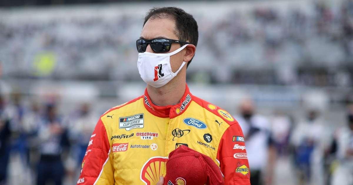NASCAR Joey Logano airborne wreck
