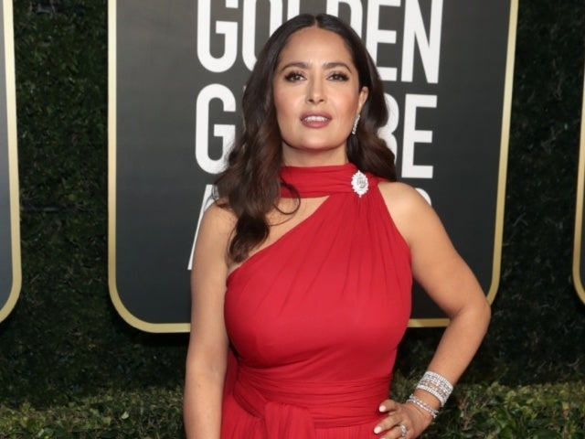 Salma Hayek Looks Totally Unrecognizable as She Films 'House of Gucci'