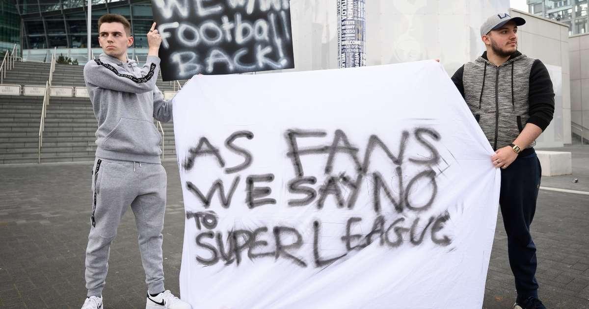 Super League plan soccer fans revolting