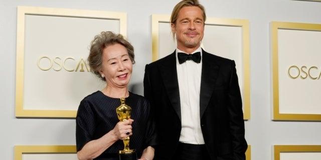 Youn Yuh-Jung Brad Pitt Getty Images