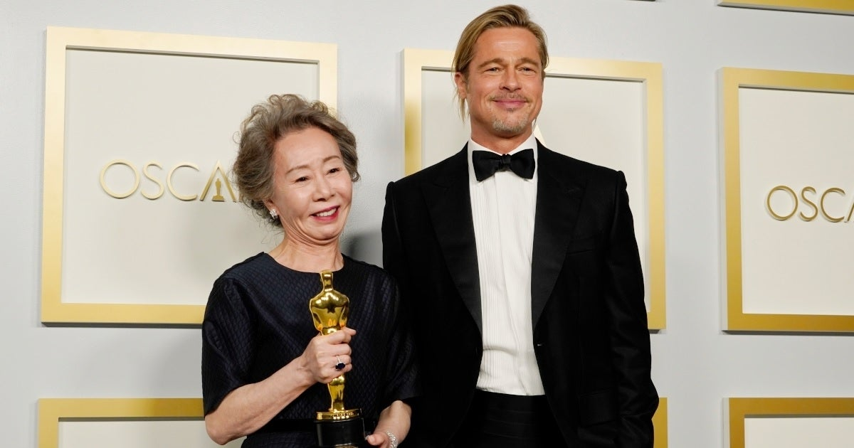 Youn Yuh-Jung Brad Pitt Getty Images