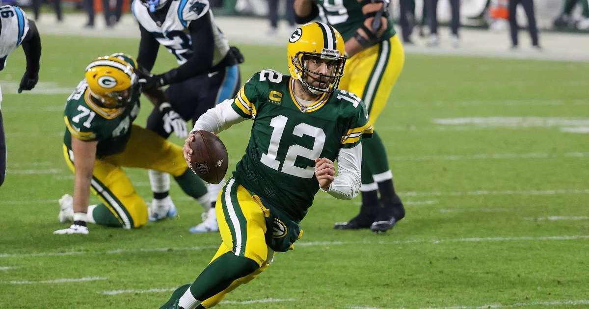 Aaron Rodgers John Elway rumor golfing together shot down Packers turmoil