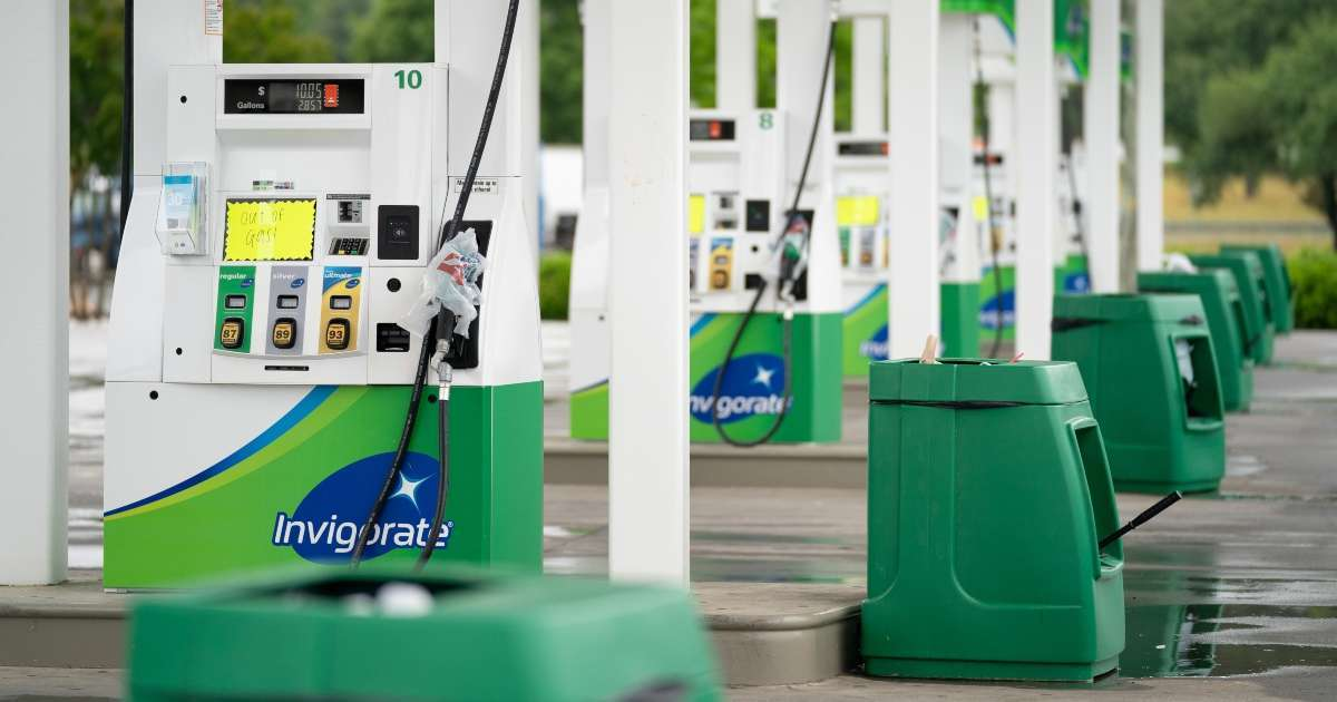 Gas shortage do not fill plastic bags