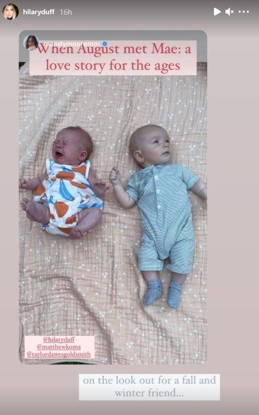 hilary duff mandy moore babies instagram