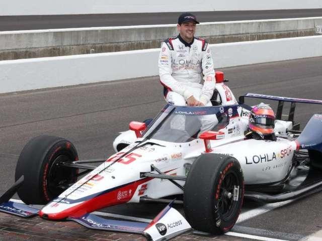 Indy 500: Stefan Wilson Wrecks Car on Pit Road