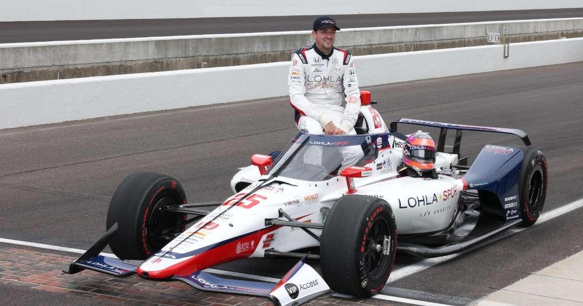 Indy 500 Stefan Wilson wrecks car pit road