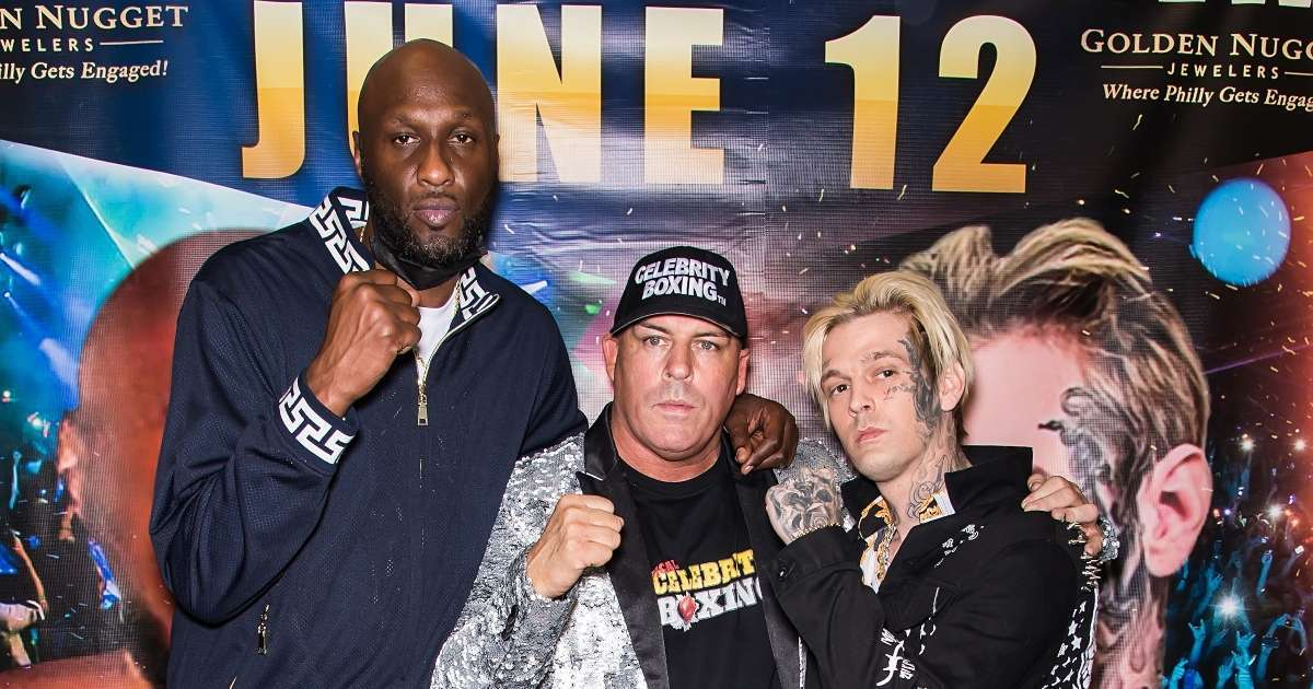 Lamar Odom shows off boxing skills head fight Aaron Carter