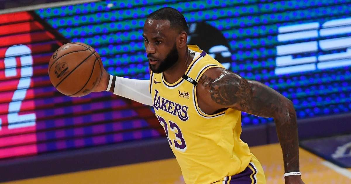 LeBron James hits insane 3 pointer clinch playoff spot Lakers