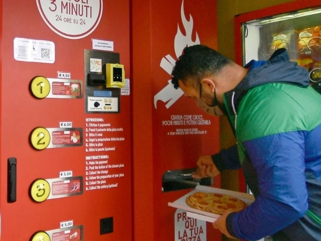 Pizza Vending Machine Debuts in Italy and Locals Are Not Happy