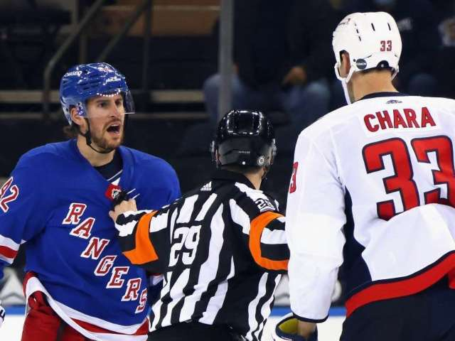 Watch: Rangers and Capitals Start Game With Massive Brawl