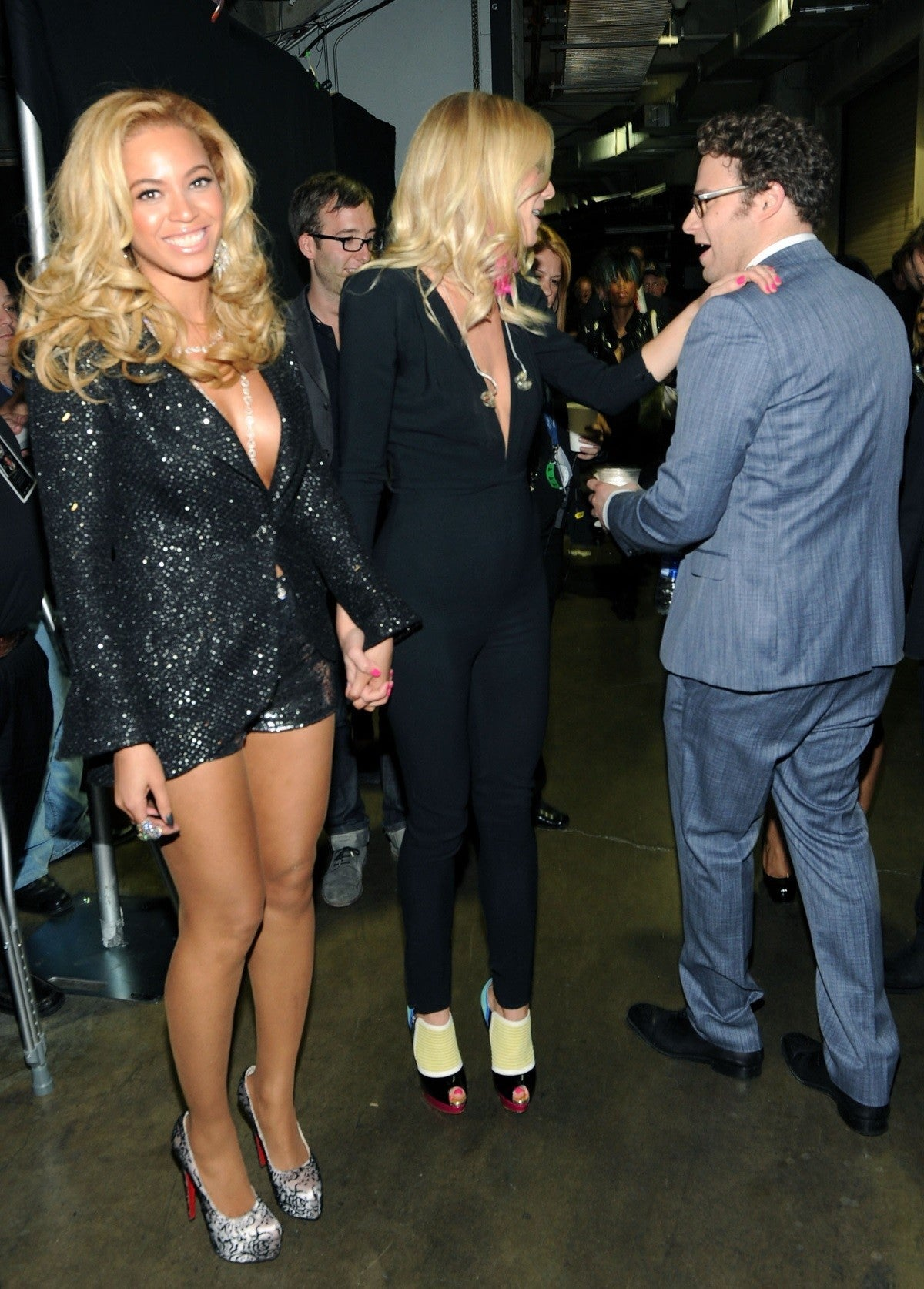 seth rogen beyonce 2011 grammys getty images