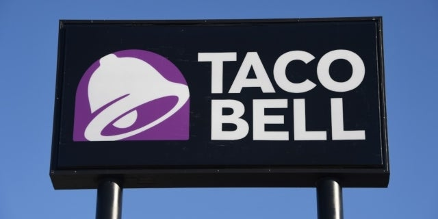 taco bell sign getty images