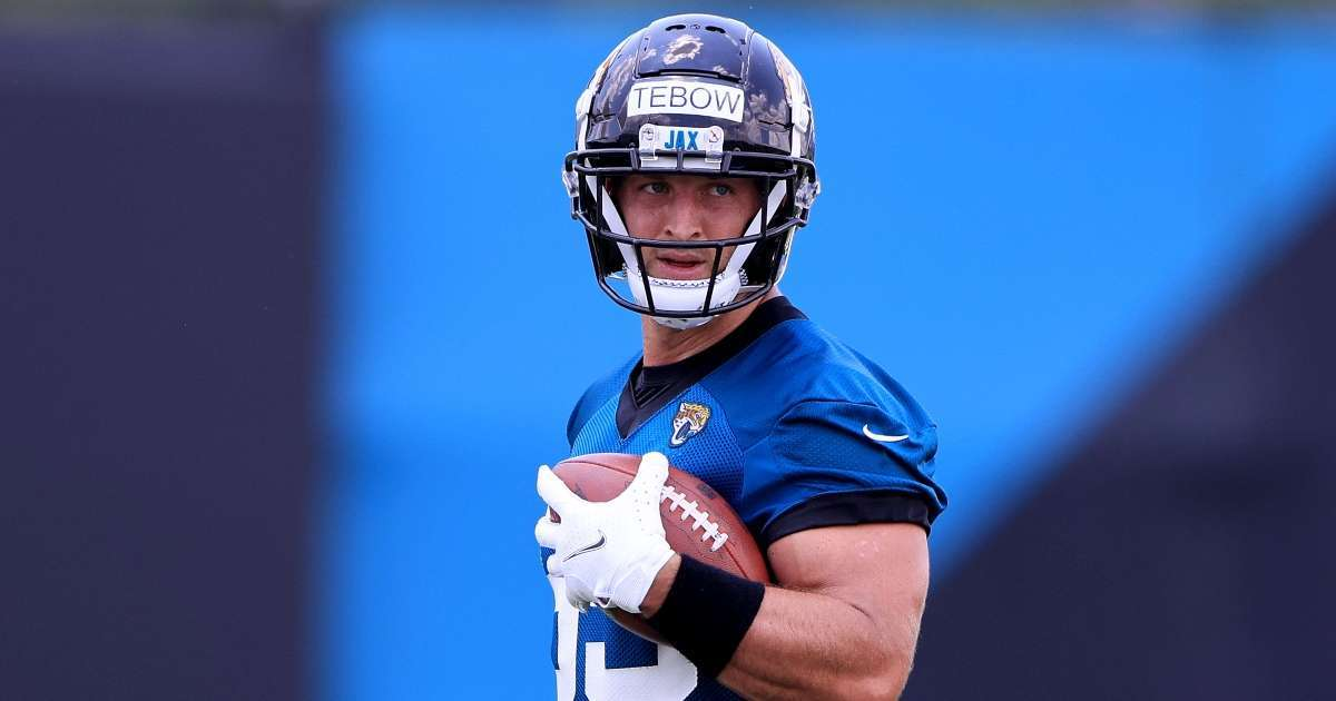 Tim Tebow Jaguars first practice tight end impressive performance