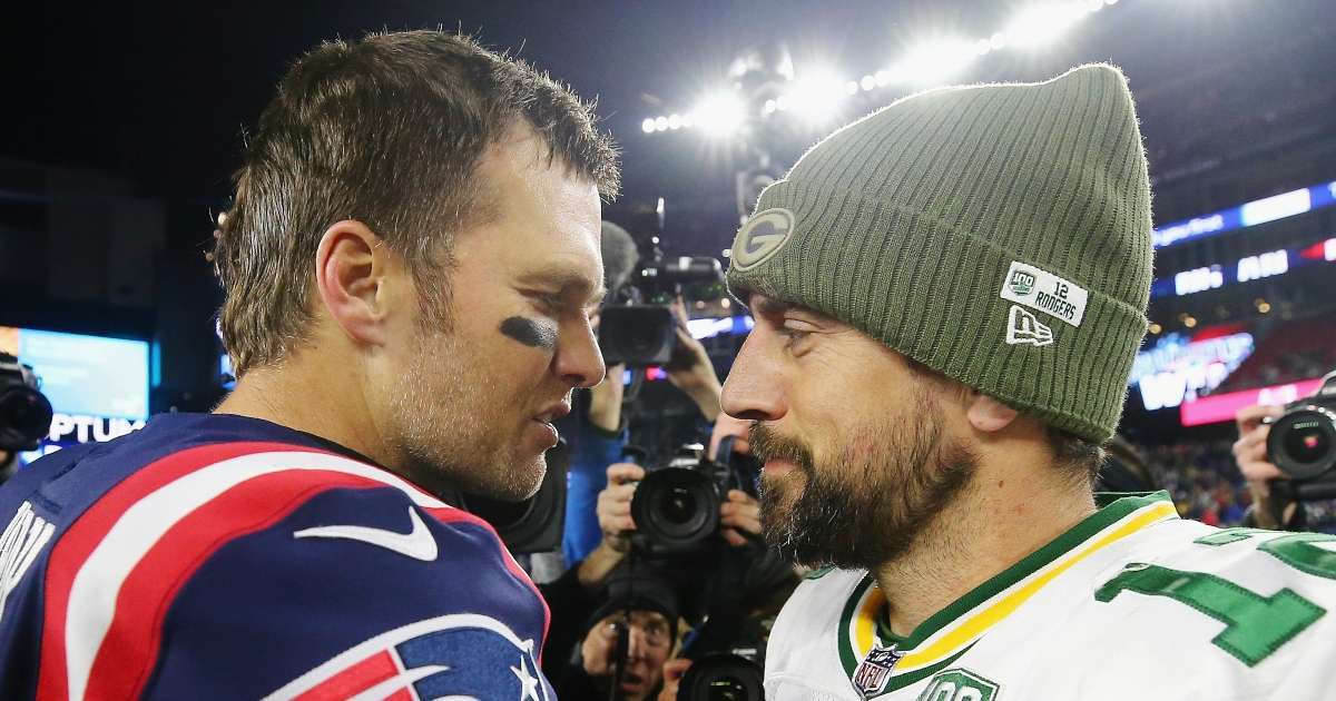 Tom Brady Aaron Rodgers compete against each other popular event
