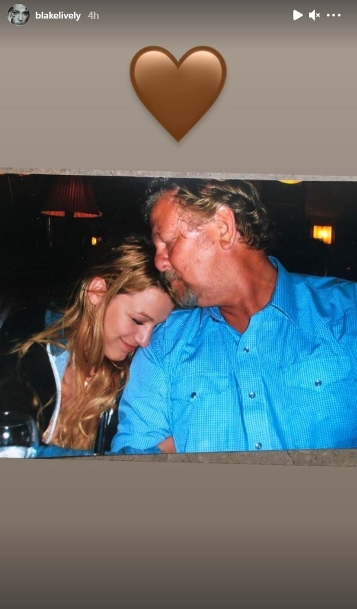 blake lively father tribute instagram