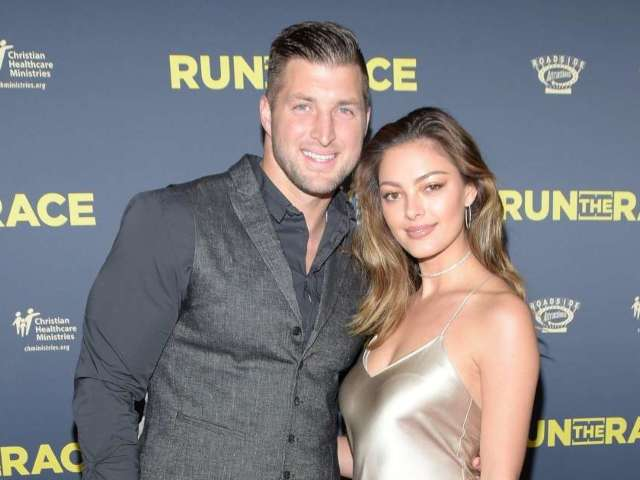 Demi-Leigh Nel-Peters Surprises Tim Tebow by Wearing His High School Football Jersey