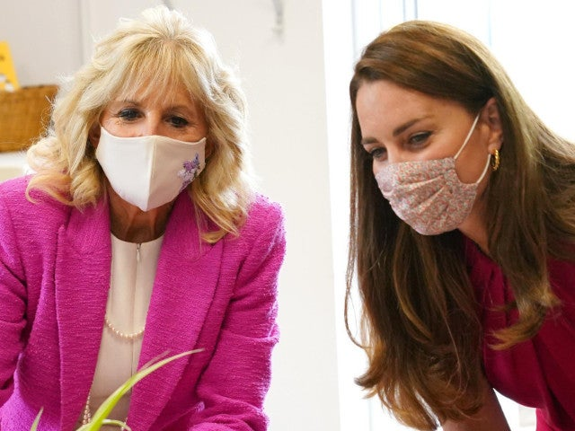 Kate Middleton Meets Jill Biden for First Time at UK School Event