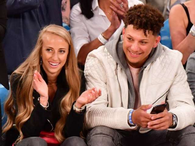 Patrick Mahomes and Brittany Matthews Reveal Baby Daughter's Face in New Photo