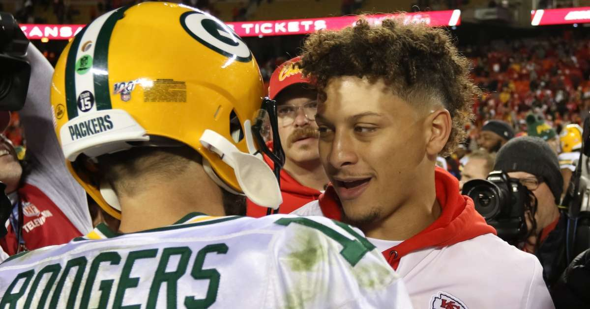 Patrick Mahomes shares thoughts Aaron Rodgers traded AFC West team