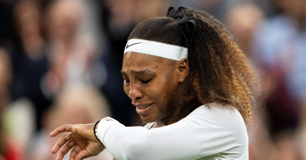Serena Williams reacts withdrawing wimbledon match