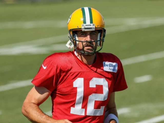Watch: Aaron Rodgers Reports to Packers Training Camp Following Dispute With Team