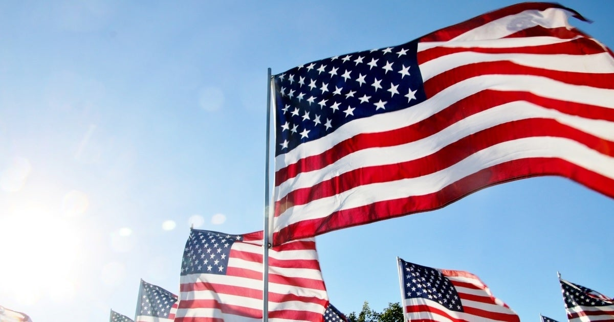 american flags getty images