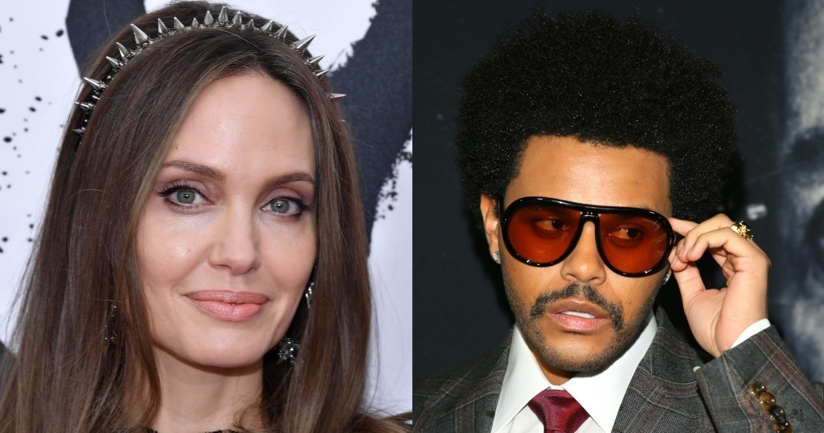 angelina jolie the weeknd getty images