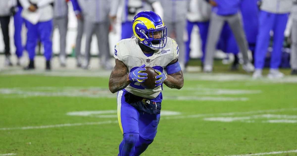 Cam Akers Los Angeles Rams running back miss 2021 season injury training