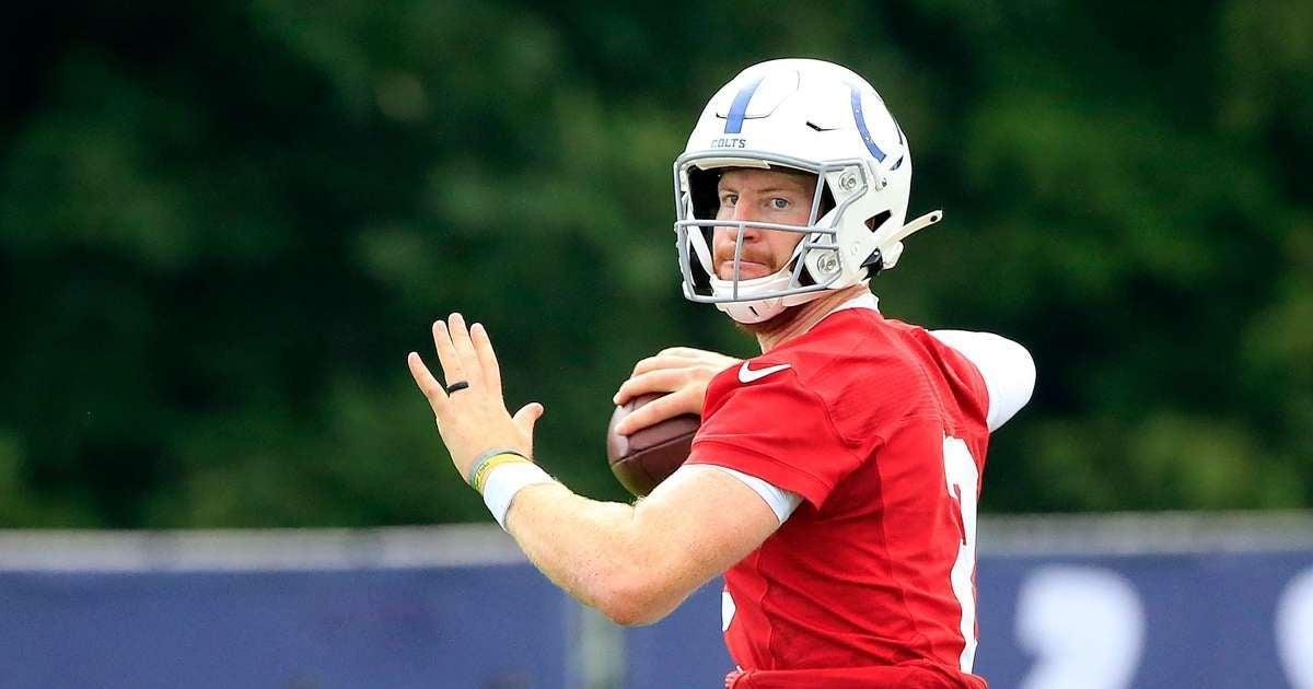 Carson Wentz Colts quarterback injury training camp put indefinitely