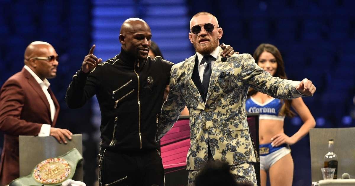 Floyd Mayweather trolls Conor McGregor breaking led UFC 264
