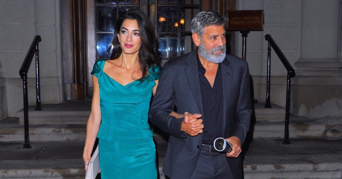 George Clooney and Amal-2