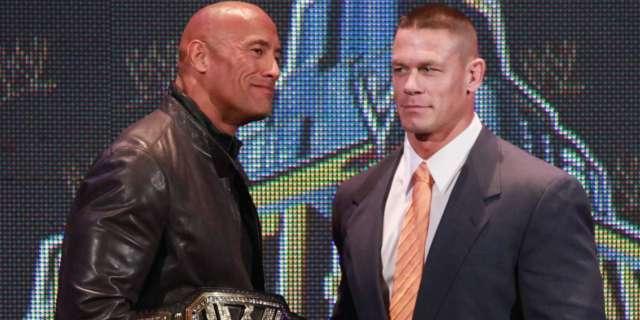 John Cena reacts Dwayne Johnson The Rock WWE return
