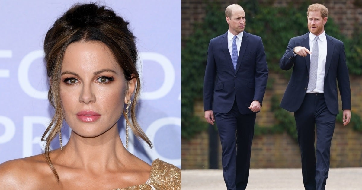 kate beckinsale prince william prince harry getty images