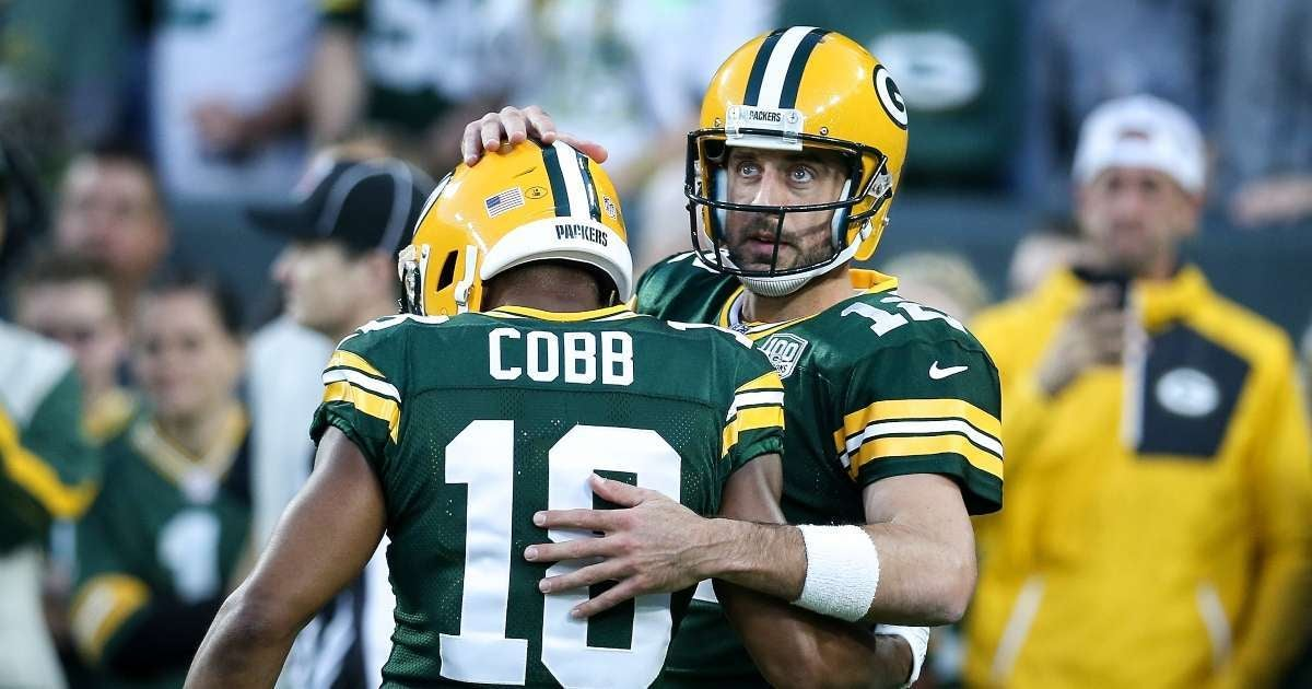 Randall Cobb Aaron Rodgers reacts reuniting Packers