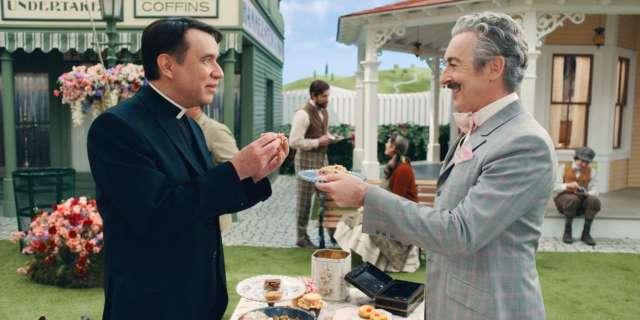 Schmigadoon Mayor Menlove Reverend Layton share special Apple TV clip